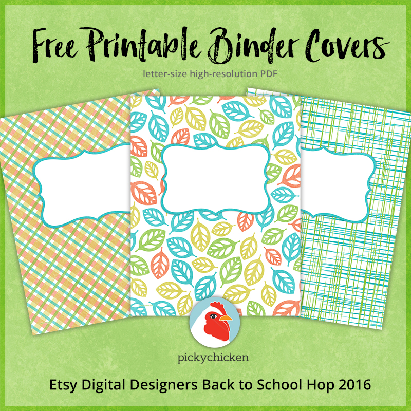 FREE Binder Or Planner Covers
