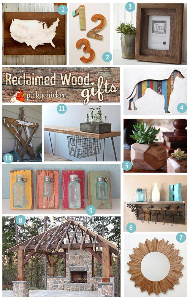 PickyChicken Reclaimed Wood Gift Ideas