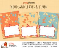 PickyChicken Woodland digital placecards freebie