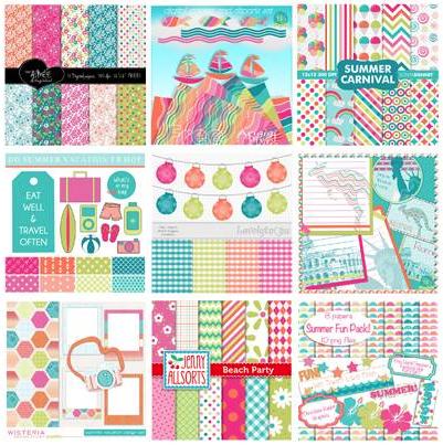 Fabulous Free Summer Shells Digital Paper | pickychicken com