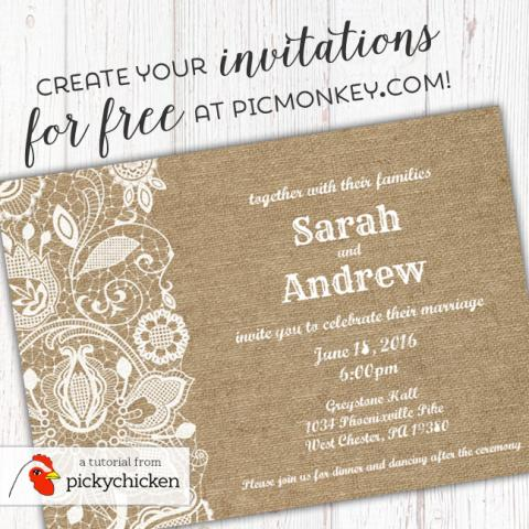 how to make your custom invitation in picmonkey